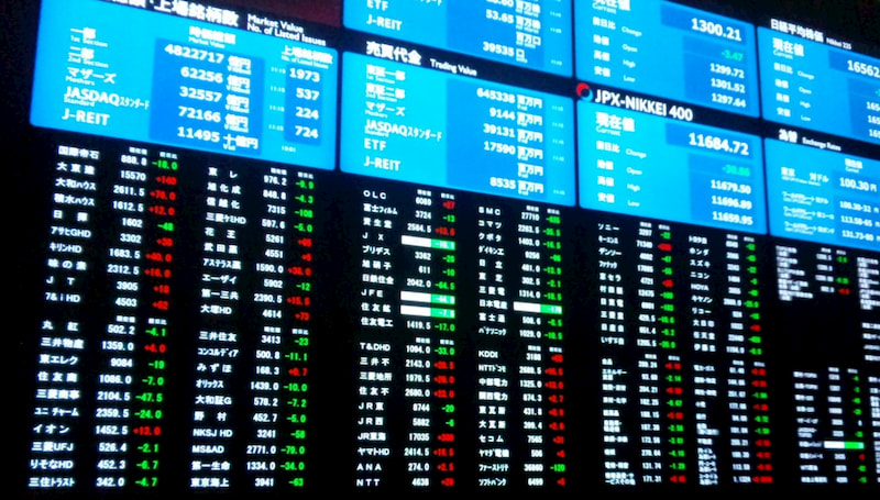 Nikkei price board